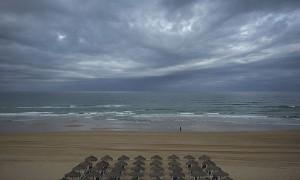 Una playa gaditana fotografiada esta mañana con la cámara Fujifilm X-pro1. Fujifilm nos acompaña en el viaje.
