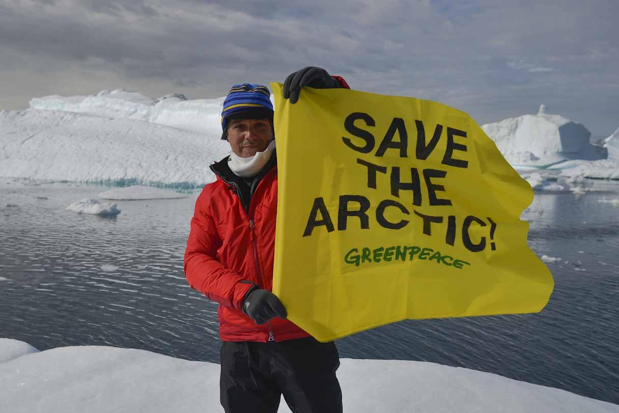 El cantante Alejandro Sanz acompaña a la expedición #SalvaelÁrtico que durará hasta el próximo 20 de julio.