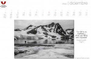 Calamar2 colabora en este calendario destacando la problematica del deshielo polar ártico. Accede Polo Norte de Pedro Armestre pulsando sobre la foto.