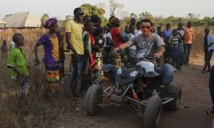 Jaume Pons, gerente de Agrogeba, en las tierras de Guinea Bissau que ha ocupado su empresa. (c) Pedro Armestre