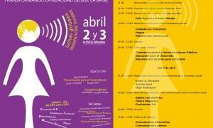 Cartel de las jornadas Ciudadanía al Poder. Los días 2 y 3 de abril en La Tabacalera, Madrid.