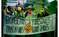Un momento de la manifestación en Madrid Marea de Fuego.